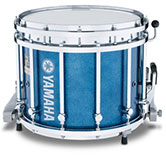 Blue Sparkle Yamaha custom marching finish.