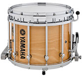 Natural Birch Yamaha custom marching finish.