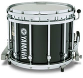 Solid Black Yamaha custom marching finish.