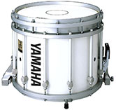 White Yamaha custom marching finish.