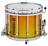 Yellow Sparkle Fade Yamaha custom marching finish.