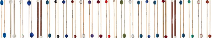 Various pairs of Innovative mallets.