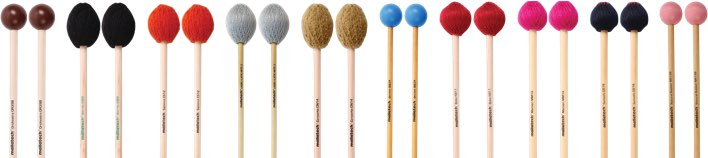 Various Malletech keyboard mallets.