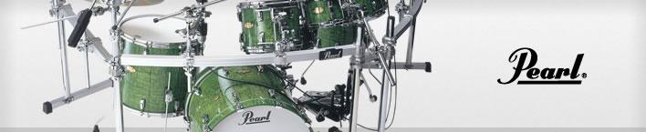 Pearl Masterworks drum set.