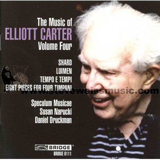 carter-eight pieces for four timpani (d. druckman) (cd)