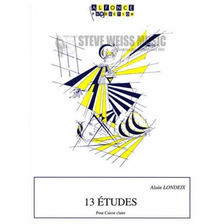 londeix-13 etudes for snare drum