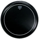 remo pinstripe ebony drum head