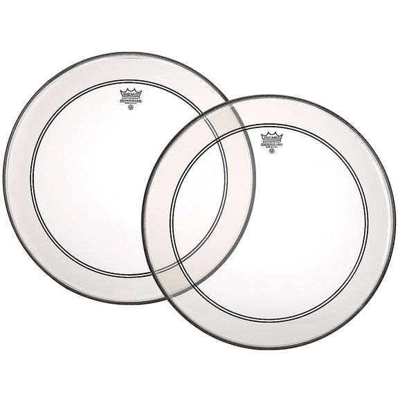 remo powerstroke 3 clear bass drum head with detached dot bass drum heads drum set drum. Black Bedroom Furniture Sets. Home Design Ideas