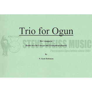 robinson-trio for ogun (sp)-3 congas/opt. 3tp or conch shells, etc.