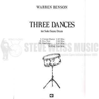 benson-three dances for solo snare drum-sd