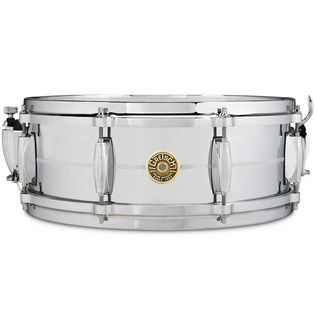 gretsch classic 4160 chrome over brass snare drum - 14x5