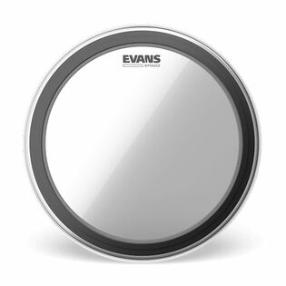 evans emad2 batter clear bass drum head