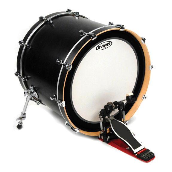 evans emad batter coated bass drum head bass drum heads steve weiss music. Black Bedroom Furniture Sets. Home Design Ideas