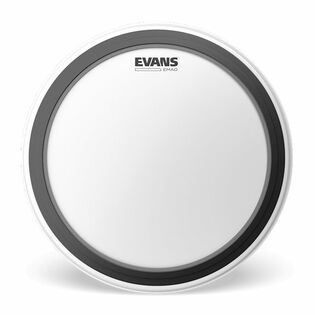 evans emad batter coated bass drum head