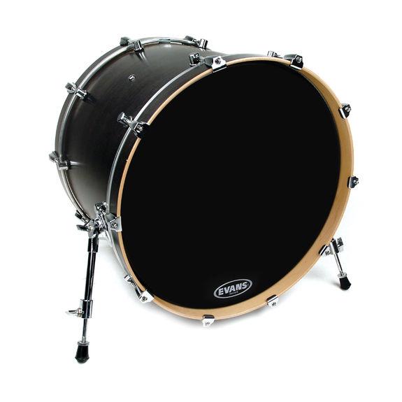 evans resonant black bass drum head evans drum heads steve weiss music. Black Bedroom Furniture Sets. Home Design Ideas