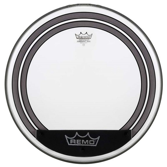 remo powersonic clear bass drum head bass drum heads drum set drum heads steve weiss music. Black Bedroom Furniture Sets. Home Design Ideas