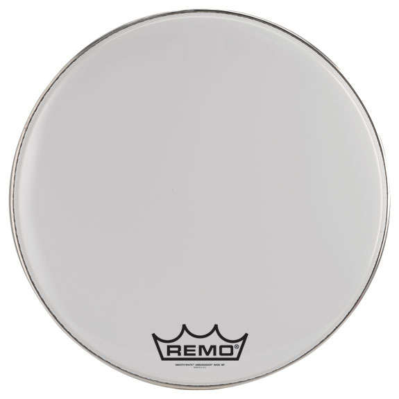 remo smooth white ambassador marching bass drum head marching bass drum heads marching drum. Black Bedroom Furniture Sets. Home Design Ideas