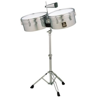 lp aspire timbales - 13/14 chrome finish (lpa256)