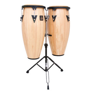 lp aspire wood conga set with stand