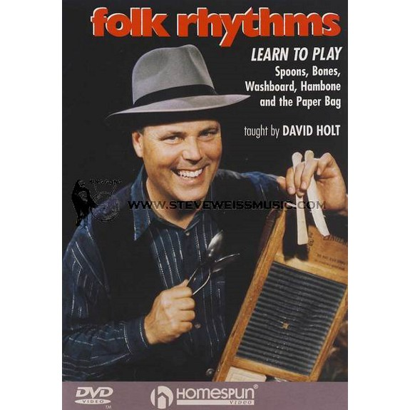 holt folk rhythms learn to play spoons bones washboard hambone and the paper bag dvd. Black Bedroom Furniture Sets. Home Design Ideas