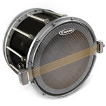 evans hybrid snare side marching drum head