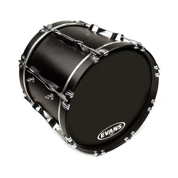 evans mx2 black marching bass drum head marching bass drum heads steve weiss music. Black Bedroom Furniture Sets. Home Design Ideas