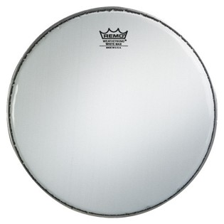 remo white max marching snare drum head with underlay