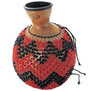 pearl traditional natural gourd shekere - medium segundo