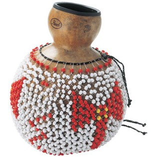 pearl traditional natural gourd shekere - large caja