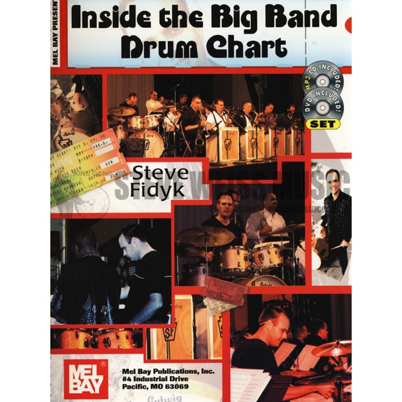 Drum set method books with recording drum set steve weiss music fidyk inside the big band drum chart cd malvernweather