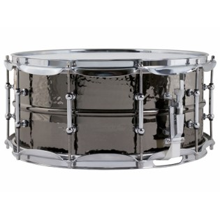ludwig black beauty hammered snare drum with tube lugs - 14x6.5