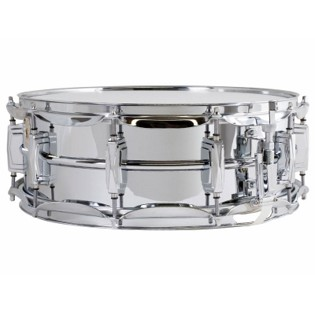 ludwig chrome plated aluminum supraphonic snare drum - 14x5