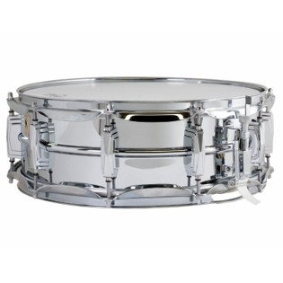 ludwig chrome plated brass supra-phonic snare drum - 14x5