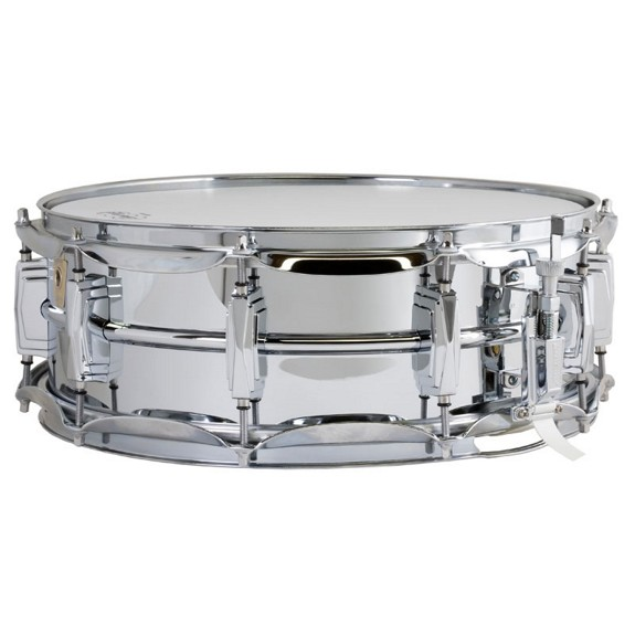 ludwig chrome plated brass supra phonic snare drum 14x5 metal snare drums snare drums. Black Bedroom Furniture Sets. Home Design Ideas