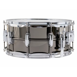ludwig black beauty supra-phonic snare drum - 14x6.5