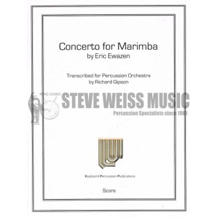 ewazen-concerto for marimba perc ens version (sp)- solo m/b/2v/5m