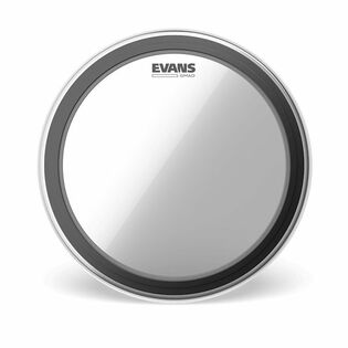 evans gmad batter clear bass drum head
