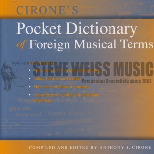 cirone-pocket dictionary of foreign musical terms