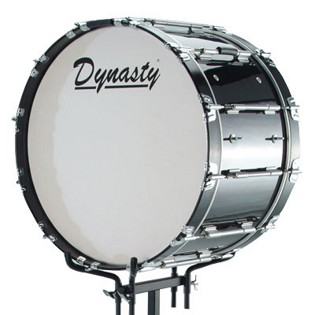 dynasty marching bass drum logo head