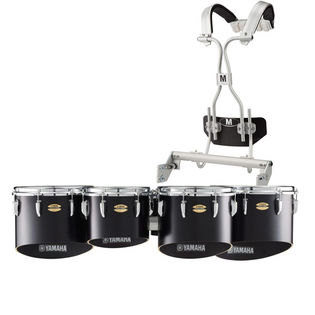 yamaha field-corps marching tenor set with tubular carrier