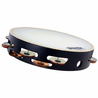 "grover 10"" x-series synthetic head double row tambourine - silver / bronze"