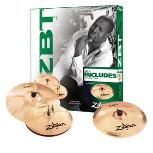 "zildjian zbt 3 cymbal pack with free 14"" crash"