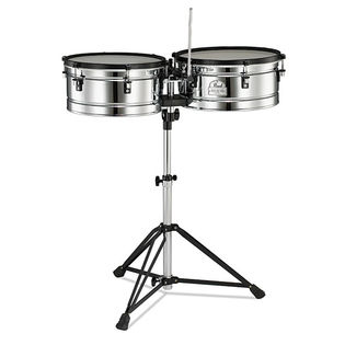 pearl primero pro steel timbale set with stand