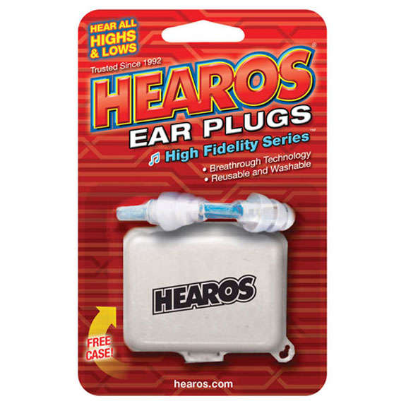 hearos high fidelity ear plugs 1 pair with case ear protection and ear plugs accessories. Black Bedroom Furniture Sets. Home Design Ideas