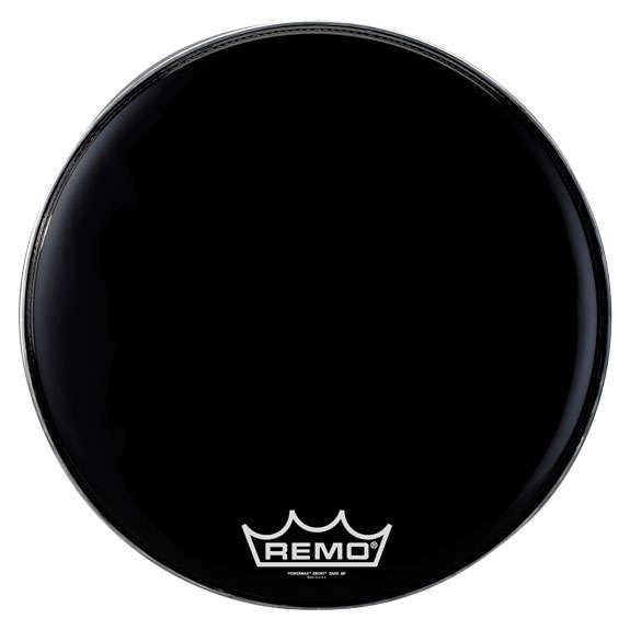 remo ebony powermax marching bass drum head marching bass drum heads marching drum heads. Black Bedroom Furniture Sets. Home Design Ideas