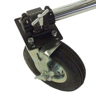 "gibraltar 9"" pneumatic caster with brake"