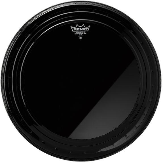 remo powerstroke pro ebony bass drum head bass drum heads drum set drum heads steve weiss. Black Bedroom Furniture Sets. Home Design Ideas