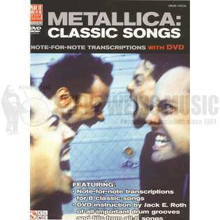 metallica: classic songs (book w/dvd)