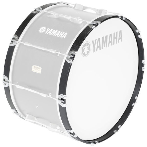 yamaha 8300 series marching bass drum hoops black forest marching bass drum accessories. Black Bedroom Furniture Sets. Home Design Ideas