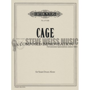Cage Composed Improvisation For Snare Drum Sd